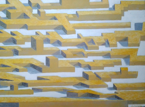 painting of a maze