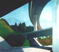 painting of LA freeway